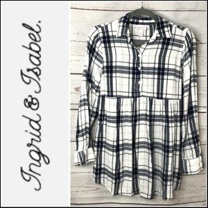 Isabel Maternity 3/4 Button Down Tie Back Blouse